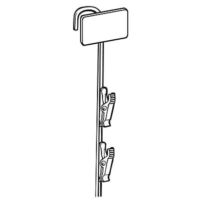 FFR Merchandising Metal Merchandising Strip, Black, Upright, 12 Station, 8/Pack (7001866616)