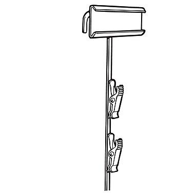 FFR Merchandising Metal Merchandising Strip, Black, Upright, 12 Station, 8/Pack (7002138105)