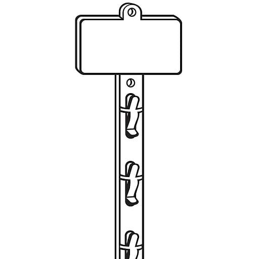 "FFR Merchandising Double-Duty 12-Station Merchandising Strip w/Adhesive, 31 1/8""L x 2 1/2"" Header, White, 25/Pack (7002533706)"