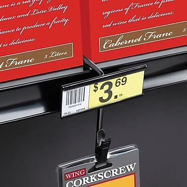 FFR Merchandising ? Bande de métal pour marchandise pour tablette du haut 12 espaces, noir, 8/paquet (7003997216)