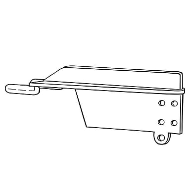 FFR Merchandising 9510 Tri-Barker 90Degree Shelf Bracket, White, 24/Pack (7007898001)