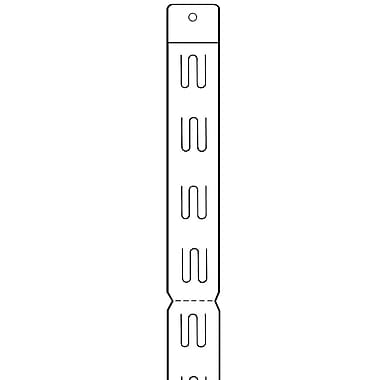 FFR Merchandising Perforated Strip, Hanging Hole, Perforations Every 6 Stations, 100/Pack (7008150001)