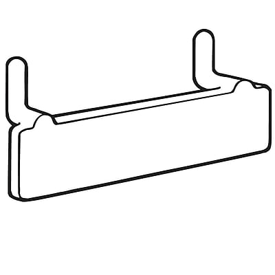 FFR Merchandising PBS Pegboard/Slatwall Adapter, Clear, 2-Prong without Adhesive, 35/Pack (7101997203)