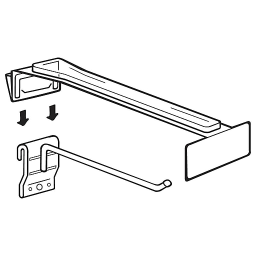 """FFR Merchandising Hook Hiker Label Holder for Uniweb Fixtures, Adhesive Labels, 10"""" to 11"""" L, 100/Pack (7106436004)"""
