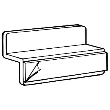 FFR Merchandising ? Adaptateur SBS de panneau perforé avec adhésif, transparent, 34/paquet (7108156002)
