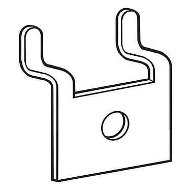 FFR Merchandising Metal Pegboard/Slatwall Baseplate with.25