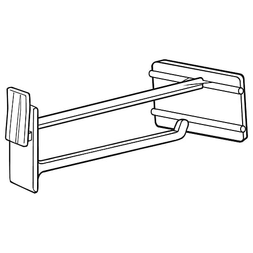 """FFR Merchandising DHS Display Hook with Scan Plate, 4"""" L, 50/Pack (7200191501)"""