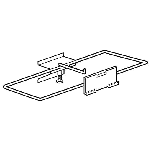 """FFR Merchandising Plastic Guarded J-Hook With Channel Mount, 3""""L, 25/Pack (7206654201)"""