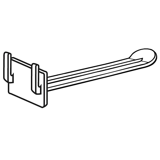 """FFR Merchandising UHBE Universal Butterfly™ Hook for 3/16"""" Corrugated, 6"""" L, 100/Pack (7207158507)"""