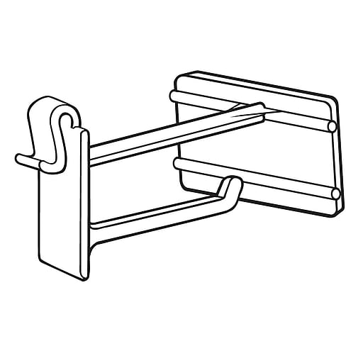"""FFR Merchandising OWS Hook with Scan Plate for Corrugated/Wire, 2""""L, 50/Pack (7208503000)"""