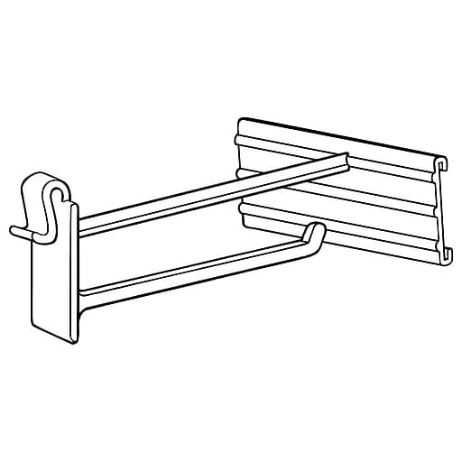 """FFR Merchandising OWS Hook with Scan Plate for Corrugated/Wire, 6""""L, 50/Pack (7208503002)"""