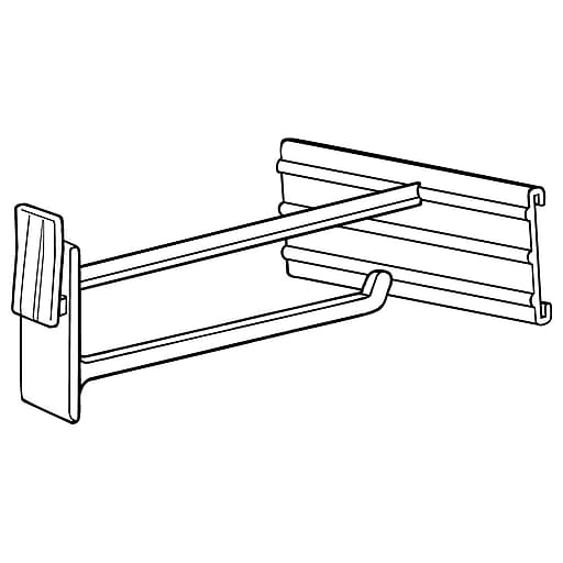 """FFR Merchandising DHC Display Hook with C-Channel, 6"""" L, 50/Pack (7209274702)"""
