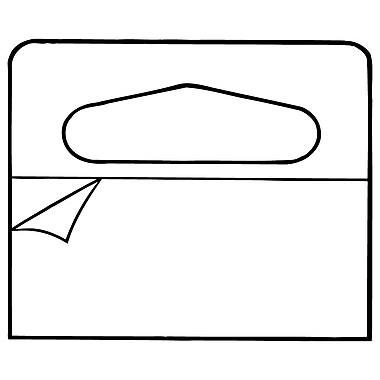 FFR Merchandising – Languette de suspension CFV-6116, format feuilles, 1,56 larg. x 1,25 haut. (po), 5000/paquet (7307895301)