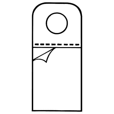 FFR Merchandising - Languette de suspension 261-2711, en vrac, 0,75 larg. x 1,63 haut. (po), 5000/pqt (7308044701)