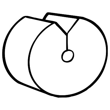 FFR Merchandising ? Pince à contrôle d?inventaire ICU, transparent, 500/pqt (7904229704)
