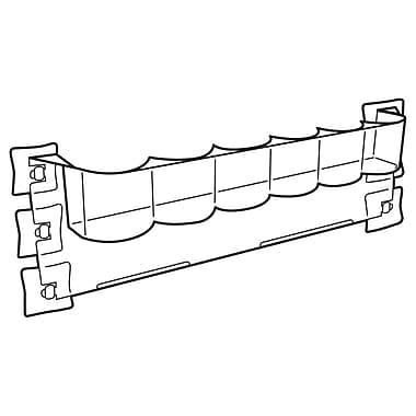 FFR Merchandising Hi-Vis Slotted Bin for Glass, Standard Can or Bottle, 2-3/8