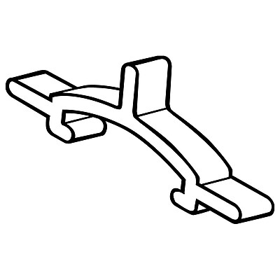 FFR Merchandising BHPS Butterfly™ Hook Product Stop; Black, 400/Pack (7904583401)