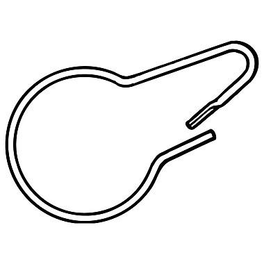 FFR Merchandising ? Attache en forme de poire PCC en métal pour marchandises, 2,5 long. (po), argenté, 300/paquet (7907532300)