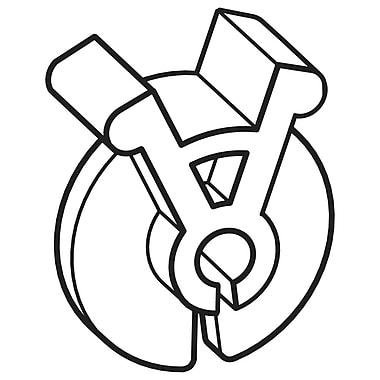 FFR Merchandising ? Attache à pression ICU pour crochet, 0,162 à 0,207 po, blanc, 800/pqt (7907783301)