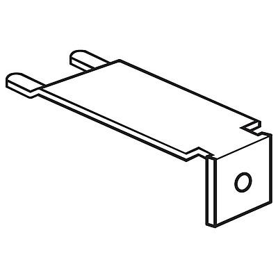 FFR Merchandising Metal Shelf-Top Bracket, 7/8