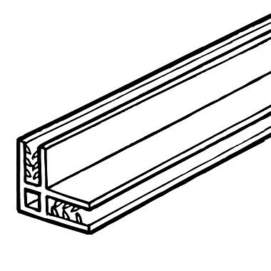 FFR Merchandising ? Profilé de panneau à 90 degrés SGL SuperGrip, transparent, 0,13 à 0,19 po, 6/paquet (8111692707)