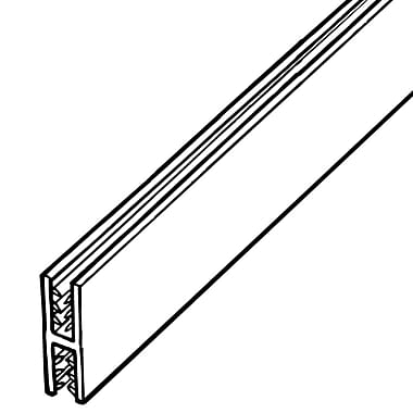 FFR Merchandising ? Profilé de panneau 180 deg. SGH SuperGrip, blanc, 48 larg. (po), cap 0,13 à 0,19 po, 6/pqt (8112330800)