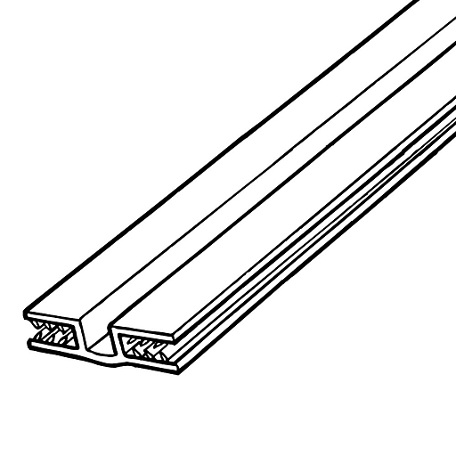 """FFR Merchandising SG SuperGrip® Hinged Panel Former, White, 48""""L x 3/16"""" to 1/4"""" Capacity, 6/Pack (8116072200)"""