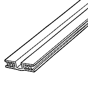 """FFR Merch SG SuperGrip® Hinged Panel Former, Clear, 48""""Lx3/16"""" to.25"""" Capacity, 6Pk (8116072201)"""