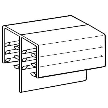 FFR Merchandising ? Porte-panneau de 0,19 po DF SuperGrip, 1 po long., 100/paquet (8116202801)