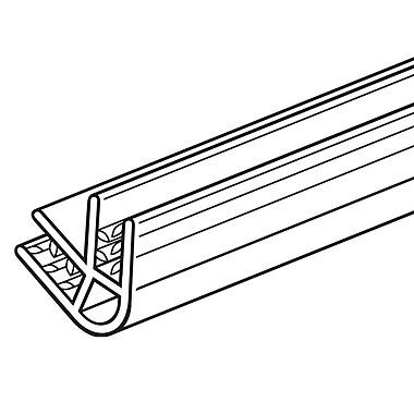 FFR Merchandising ? Profilé de panneau 60° SGV SuperGrip, transparent, 48 larg. (po), cap 0,19 à 0,25 po, 6/pqt (8116493201)