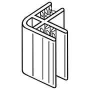 "FFR Merchandising 90-100 SuperGrip® 2-Way Panel Former (90Degree), 1""L, 100/Pack (8118110300)"
