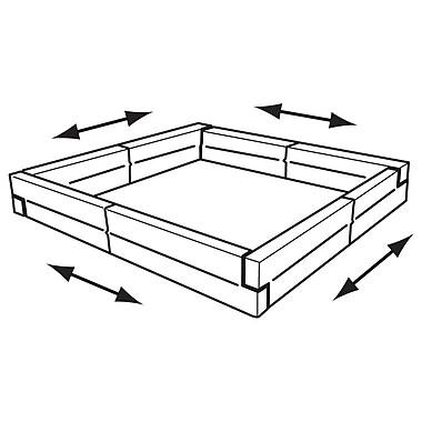 FFR Merchandising ? Protecteur de palette, 48 long. x 40 prof. x 9 haut. (po), ensemble de 4 pièces, 2/paquet (8201375209)