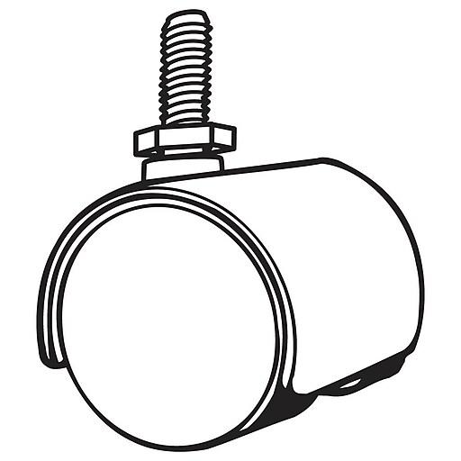 FFR Merchandising Twin Wheel Caster, Non-Locking, 44/Pack (8201711002)