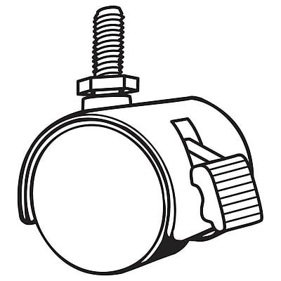 FFR Merchandising Twin Wheel Caster, Locking, 28/Pack (8201711003)