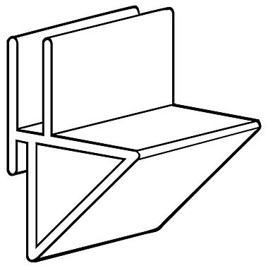 FFR Merchandising CC100 and CC200 Corr-A-Clip Shelf Supports, CC200, 0.38