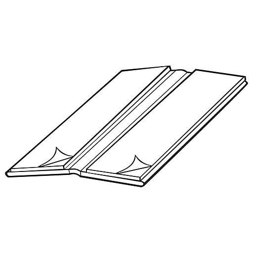 """FFR Merchandising Extruded Hinge With Adhesive, 1 1/4""""W x 3""""L, 50/Pack (8202735401)"""