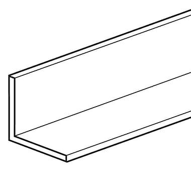 FFR Merchandising ? Support en L sans charnière, longueur de 48 po, transparent, 6/paquet (8204394601)