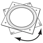 "FFR Merchandising Turntables, Metal, 6"", Square, 10/Pack (8206382502)"