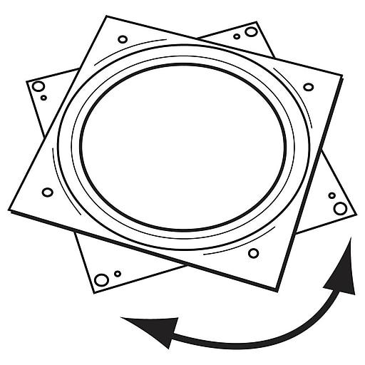 "FFR Merchandising Turntables, Metal, 6"", Square, 10/Pack (8206382502)"