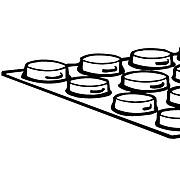 """FFR Merchandising Bumper Buttons, 7/16"""" O.D. x 1/8"""" H, Flat, 250/Pack (8207511700)"""