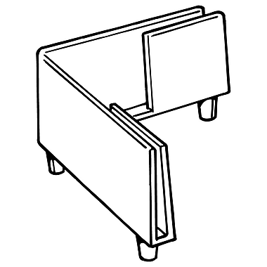 FFR Merchandising 2215 Rigid Display Foot, Corner, 100/Pack (8207528800)