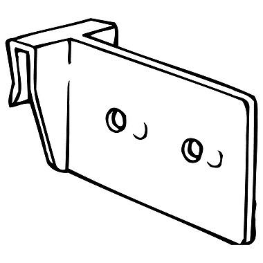 FFR Merchandising CC300 Corr-A-Clip® Shelf Supports, Standard (Vertical), 160/Pack (8208077500)