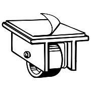 "FFR Merchandising Plastic Master Caster, 2"" x 2"", 12/Pack (8208105500)"