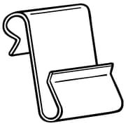"FFR Merchandising WCM-3 Metal Power Wing Clip™; Large, 1"" L x 1 3/4"" H, 125/Pack (8300323700)"