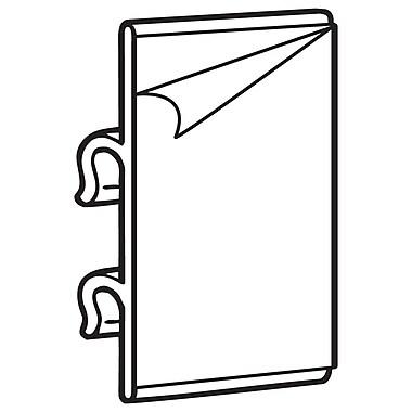 FFR Merchandising - Porte-affiche adhésif en PVC transparent pour grillage, 2,25 haut. x 1,25 long. (po), 150/pqt (8300904000)