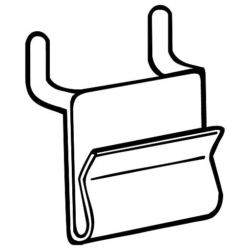 "FFR Merchandising WC-12 Power Wing Clip™ for Pegboard/Slatwall; 1.25""L x 1.25""H, 125Pk (8301105200)"