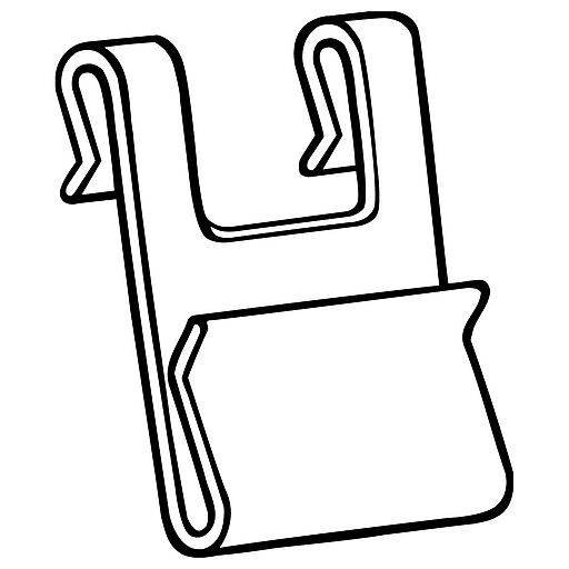 """FFR Merchandising Warehouse Power Wing Clip™; 1 1/2"""" L x 2 3/8"""" H, 60/Pack (8305630200)"""