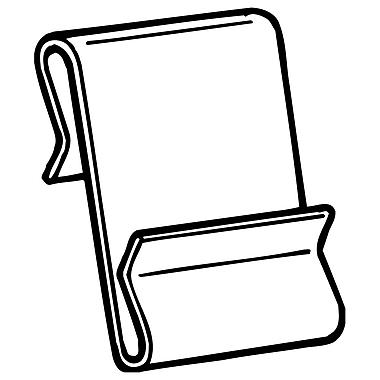 FFR Merchandising ? Pince en S en métal Power Wing Clip WCM-2, grande, 1 long. x 1,75 haut. (po), 150/paquet (8307842300)