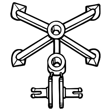 FFR Merchandising SP8-78 Spider Clip, Natural, 100/Pack (8401656800)