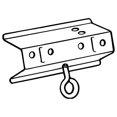 FFR Merchandising ? Adaptateur de support à glissière, métal, 3 po long avec 4 trous de fixation 19 po, 12/paquet (8408087600)